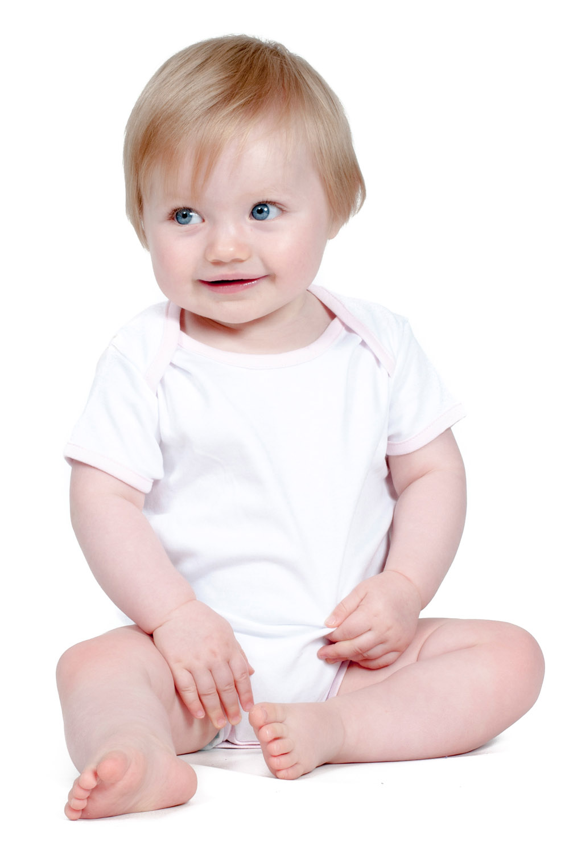 fac6c97a3fca LW051 CONTRAST BABY BODYSUIT. £0.00. Short sleeved bodysuit  Envelope neck  ...